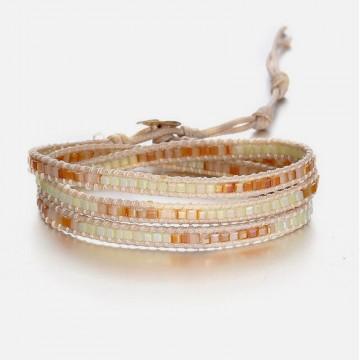 Ivory wrap bracelet 3 strands
