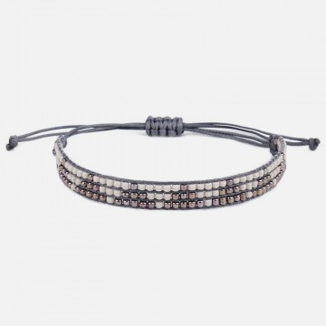 Silver gray miyuki bracelet