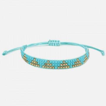 Miyuki turquoise bracelet gold