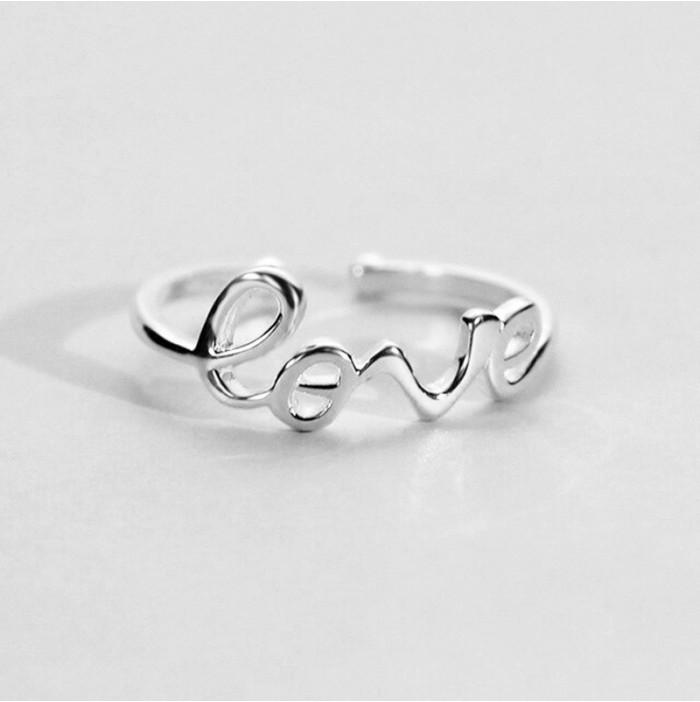 Love ring in silver