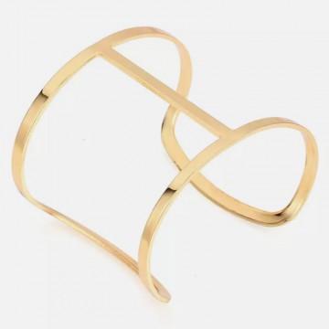 Minimalist gold cuff