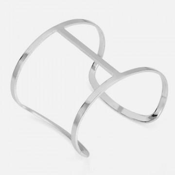 Minimalist silver cuff