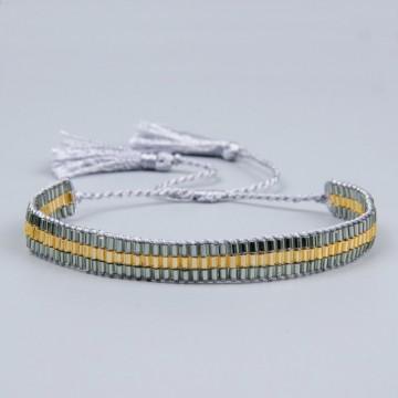 Gray gold miyuki bracelet