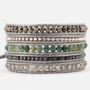 Jade wrap bracelet