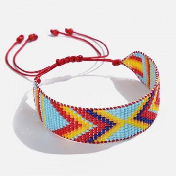 Miyuki bracelet turquoise red
