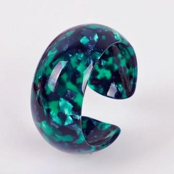 Emerald domed cuff