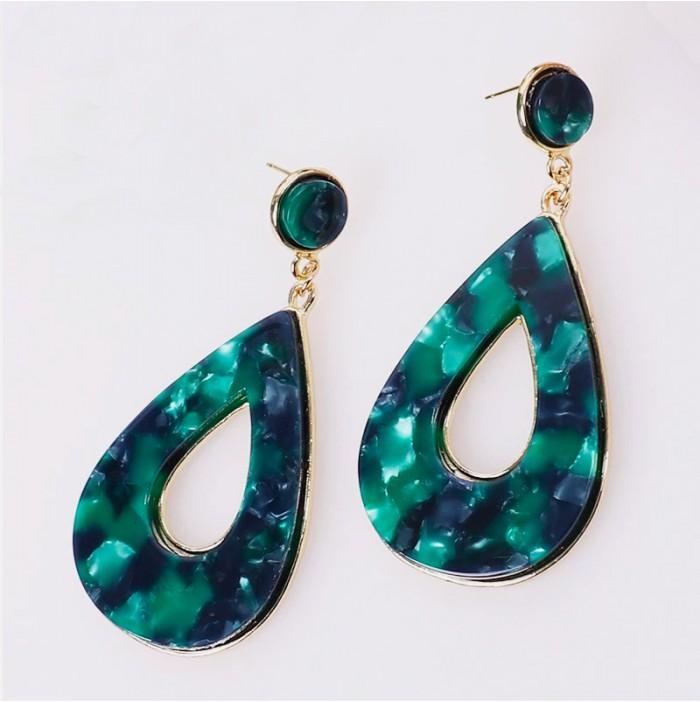 Emerald reflections earrings