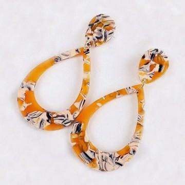 Zebra yellow earrings