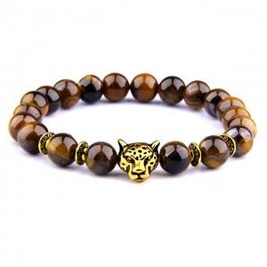 Tiger eye panther bracelet