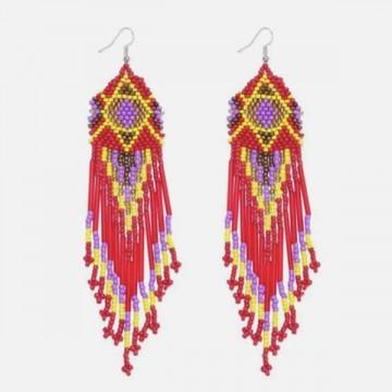 Apache earrings red