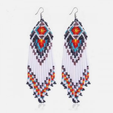 White Apache earrings