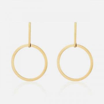 Brushed metal earrings