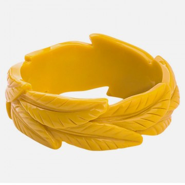 Yellow leaves bracelet