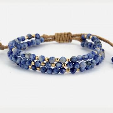 Sodalite bracelet 3 strands