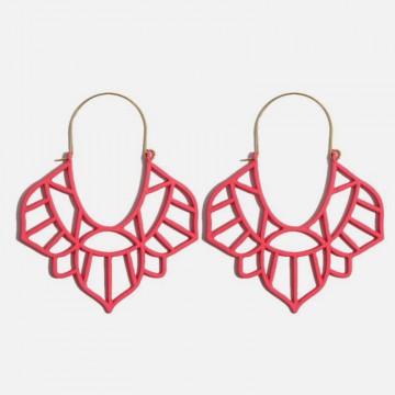 India Red Earrings