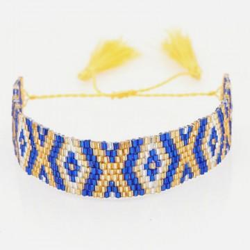 Gold blue miyuki bracelet