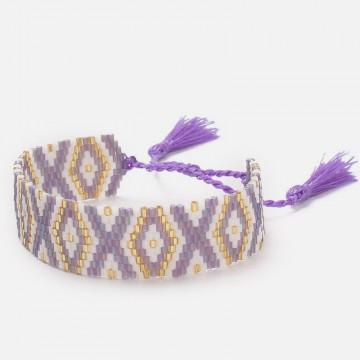 Mauve miyuki bracelet