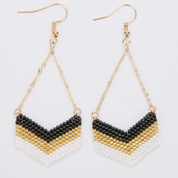 Miyuki peyotte earrings