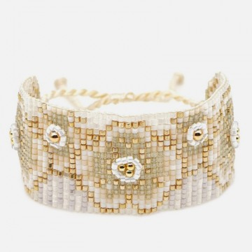 Beige gold miyuki bracelet
