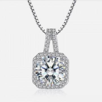 Silver zircon necklace
