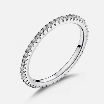 Fine zircon ring