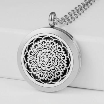 Mandala aroma necklace