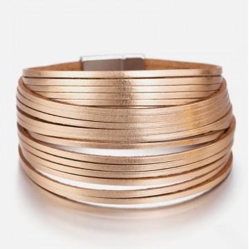 Rose gold leather cuff