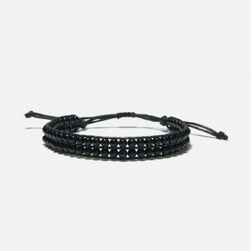 Obsidian Woven Bracelet