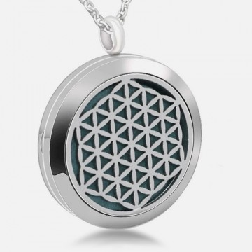 Flower of life necklace for aromatherapy