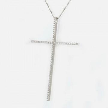 Strass Kreuz Halskette